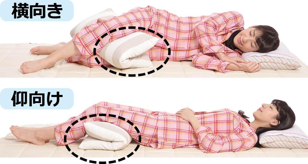 腰痛・ヘルニア・坐骨神経痛・脊柱管狭窄症の時に楽な寝方